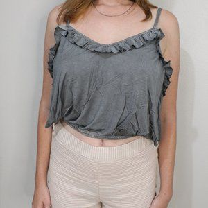 Super Soft Grey Pol Crop Top